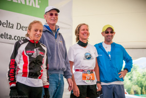 Bob with fellow 2013 Inductees, (l-r) Jacqueline Gareau, Bob, J'Ne Day-Lucore and Simon Gutierrez. Photo courtesy of Joe Viger.